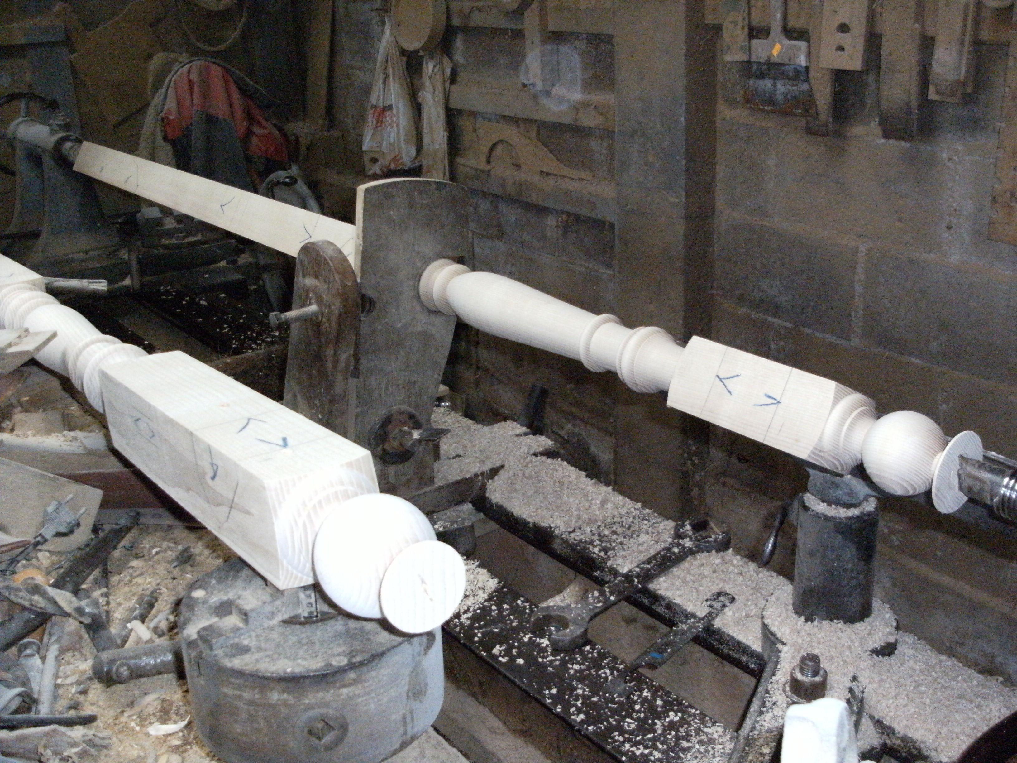 tournage des poteaux